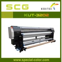 Quality 3.2 meter Uv printer. uv roll to roll printer for all soft materials KUR-3202.UV ink for sale