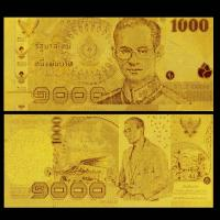 China Gold Art And Craft Gold Plated Banknotes 1000 Baht , Nice Decoration Article on sale
