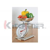 China FDA Stainless Steel Digital Kitchen Scale With Round Tray 20 Kgs * 50 Gram on sale