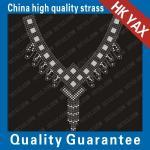 Quality D0929 neck-31 patterns transfer-neck design;hotfix motifs for sale