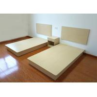 Quality Customized Buget Hotel Contract Furniture Bed Melamine Laminated Board With PVC Edge for sale