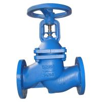 Quality Bellows Sealed Cast Iron Globe Valve With Hand Wheel Operator DIN3356 for sale