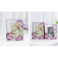 Quality Durable Solid Glass Wedding Photo Frames / Elegant Family Wall Art Picture Frames for sale