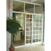 China 1.4mm profile thickness white, balck gray aluminum sliding glass doors with fly screen on sale