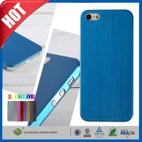 Quality Blue Ultra Thin Brush Shockproof Non Slip Cell Phone Carrying Case for Iphone 5 5s for sale