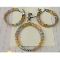 Quality Cheap Wholesale Jewelry Three Color Fashion 316L Stainless Steel Jewelry Sets for Women for sale