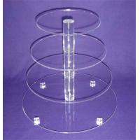 White custom retail store round 5 tier acrylic cupcake stand/acrylic cake pops display stand/acrylic tower stand