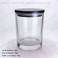 Buy cheap Scented Soy Wax Candle Jar with black wooden lid from wholesalers