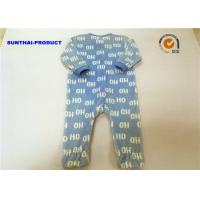 Quality Washable Baby Pram Suit Snap Closure Long Sleeve Letter OH Footies Coverall for sale
