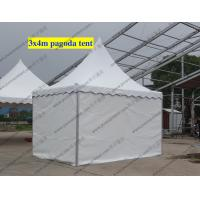 Quality Customize White High Peak Tents PVC Cover Temporary For Exhibition Shows for sale
