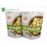 Best Matte Effect ziplock custom stand up pouches , Dried Nuts flat pouch packaging Foil Lined wholesale
