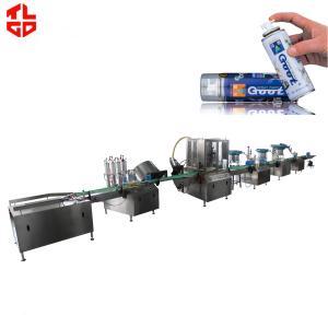 Automatic AerosolSpray FillingMachinefor Spray Paint / Air Freshener