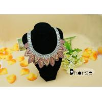 China Decorative Rhinestones Seed Bead Collar Necklace , Fashion Collar Necklace on sale