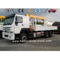 Buy cheap SINOTRUK HOWO 6x4 Lorry Truck Mounted Small Truck Crane With Telescopic Boom from wholesalers