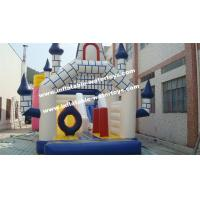 China Water Trampoline Inflatable Combo Bouncers Playground Equipment 0.55mm on sale
