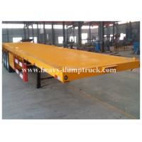 Quality Four Axles Low Bed Semi Trailer For Transport Containers , 40 Tons Loading Capacity for sale
