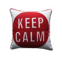 Quality Customized Red Letter Throw Pillows for Bedding , square beach throw pillows for sale