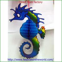 Quality Paper Honeycomb Decoration Seahorse for sale