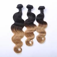 China Doulde Drawn Blonde Hair Color Silky Straight Brazilian Hair Extension on sale