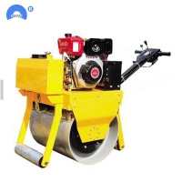 Quality Double Drum Compactor Machine Pedestrian Vibrating Mini Road Roller Compactor For Sale for sale