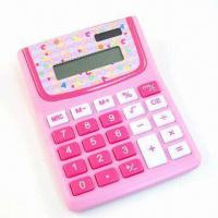 Quality Promotional Calculator with Plastic Case, with Eight-digit LCD Display for sale