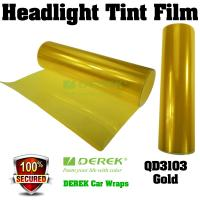 Quality Car Headlight Tint Film 3 layers 0.3*10m/roll - Gold for sale