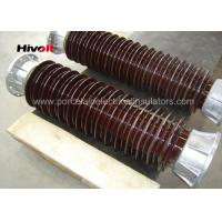 Quality Brown Color Station Post Insulators For 110kV Substations Metric Pitch for sale