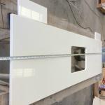 Quality Composite White Quartz Kitchen Worktops With Granite Countertops Manmade Stone for sale