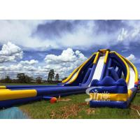 Quality 10m high adults giant inflatable triple water slide for water occasions entertainment for sale
