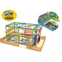 Buy cheap Colorful Ninja Obstacle Course Equipment / Indoor Rope Courses Climbing from wholesalers