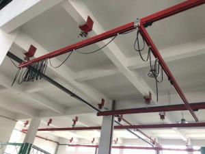 Quality 0.5t 1t 2t KBK Light Crane System With Eliectric Hoist for sale