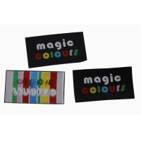 China Max 8 color high quality personized size hot cut edge main label for kid cloth on sale