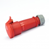 Buy cheap Waterproof Nylon PA6 4P 32A 6H Industrial Power Socket from wholesalers