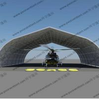 Quality Movable Curved Temporary Tent Buildings For Helicopter Hanger , No Door for sale