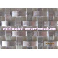 Quality Flat Wire Woven Decorative Metal Mesh Panels , Custom Woven Wire Cloth for sale