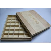 Quality Engraved Decorative Wooden Boxes with Dividers , Customized Wooden Storage Boxes for Esential Oil Packaging for sale