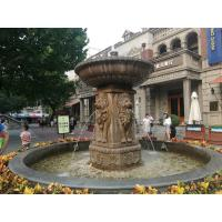 Quality Garden water sandstone fountain with pool, china marble sculpture supplier for sale