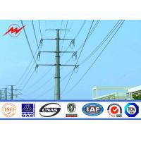 Quality Philippines NGCP Steel Utility Power Poles 80 ft / 90 ft For Power Transmission for sale