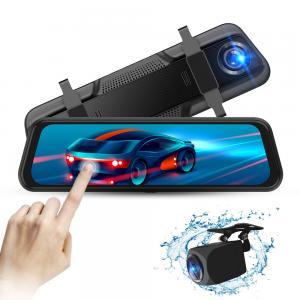 Quality Dashcam Black Box Dual 1080P Car DVR 9.66 11.66 11.88 Inch Streaming Media Rear View Mirror for sale