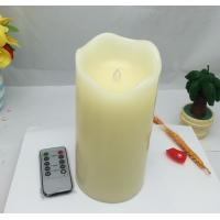 Best Led candles with remote control and timer ,real wax ivory candle,vanilla scent wholesale
