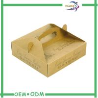 Best Custom Designed Corrugated Paper  Box With Handle Manufacture wholesale