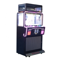 Quality Arcade 2 Player Toy Crane Machine With Black Metal Cabinet for sale