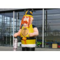 Quality Customized Inflatable Viking Doll Giant 420D Oxford Cloth For Outdoor Event for sale