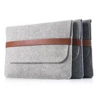 Buy cheap Factory price mac book pro felt laptop briefcase bag. size is a4. 3mm microfiber from wholesalers
