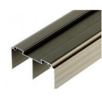 China Golden / Silver Anodized Profile Aluminum Extrusions For Curtain Wall on sale