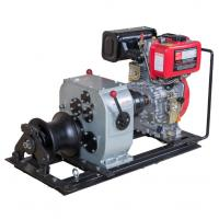 Quality Air cooled diesel engine winch 3 ton fast speed cable pulling machine for pulling hoisting lifting for sale