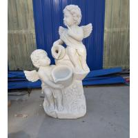 Quality Garden stone angel boy statue marble angel hand carved sculptures,stone carving supplier for sale