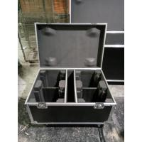 Quality Full Black Color 9mm Thinkness Plywood Customized Aluminum Tool Cases For Sound Console / Speaker Case for sale