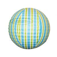 Quality Stripe Colorful Round Paper Lanterns with Metal Wire material for sale