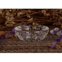 Best 20Ml Diamon Grid High Crystal Personalized Glass Candle Holder For Votive Tealight Holders wholesale